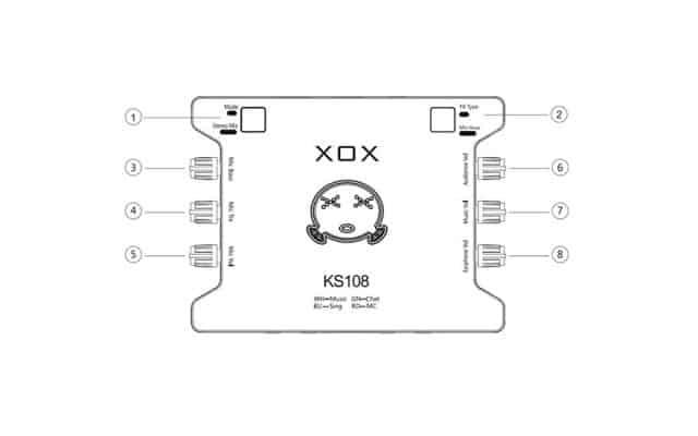 các nút điều chỉnh trên sound card k10