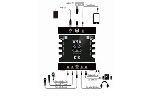 hướng dẫn lắp đặt sound card xox k10