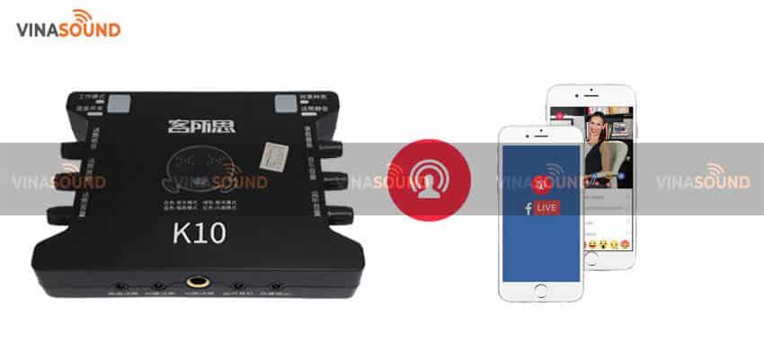 Livestream trên điện thoại với XOX K10