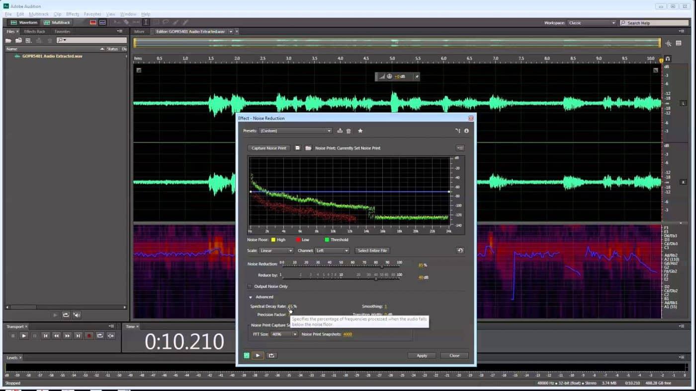 Loại bỏ tạp âm với Noise Reduction