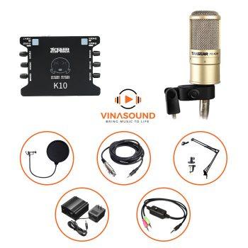 combo micro thu âm pc k200 xox k10