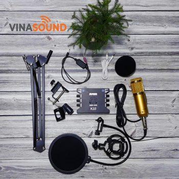 combo mic thu âm bm 800 + xox k10