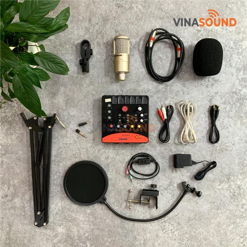 Trọn bộ Combo hát live K200 ICON Upod Pro | Ảnh: Vinasound.vn