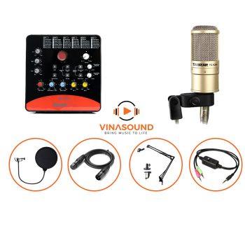 combo micro thu âm pc k200 icon upod pro