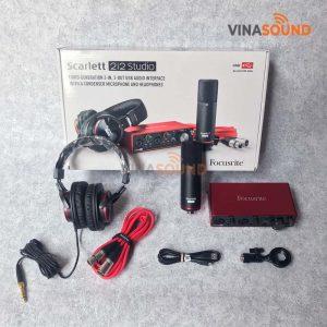 Trọn bộ Combo Focusrite Scarlett 2i2 Gen3 Studio | Ảnh: Vinasound.vn