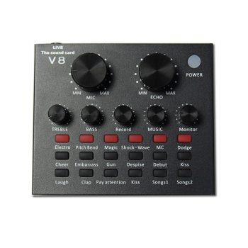 sound card thu âm v8