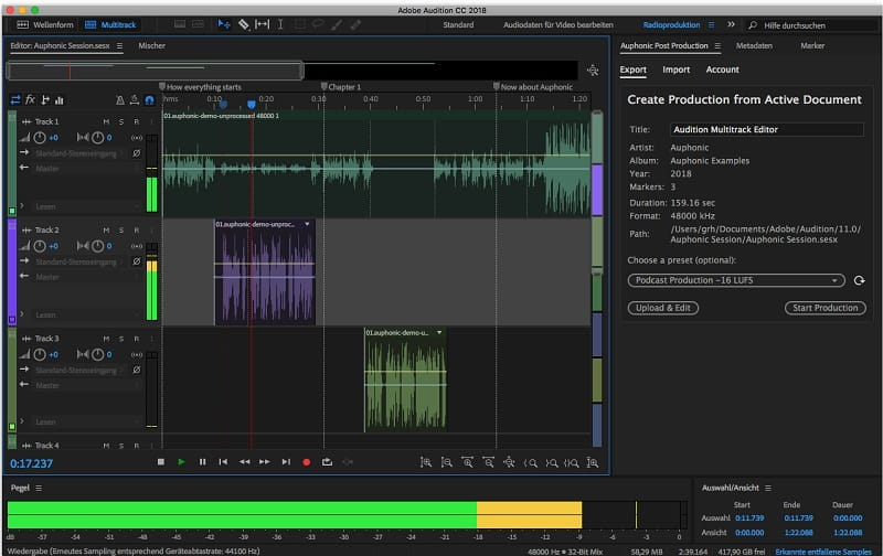 adobe audition trên macbook