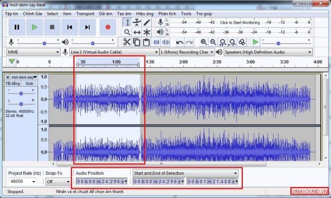 cắt file âm thanh