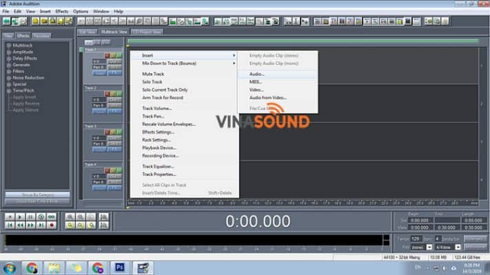 chèn beat vào adobe audition