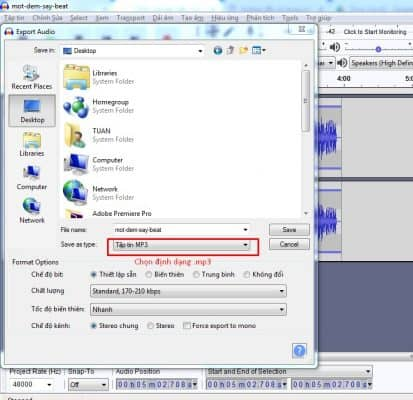 xuất file mp3