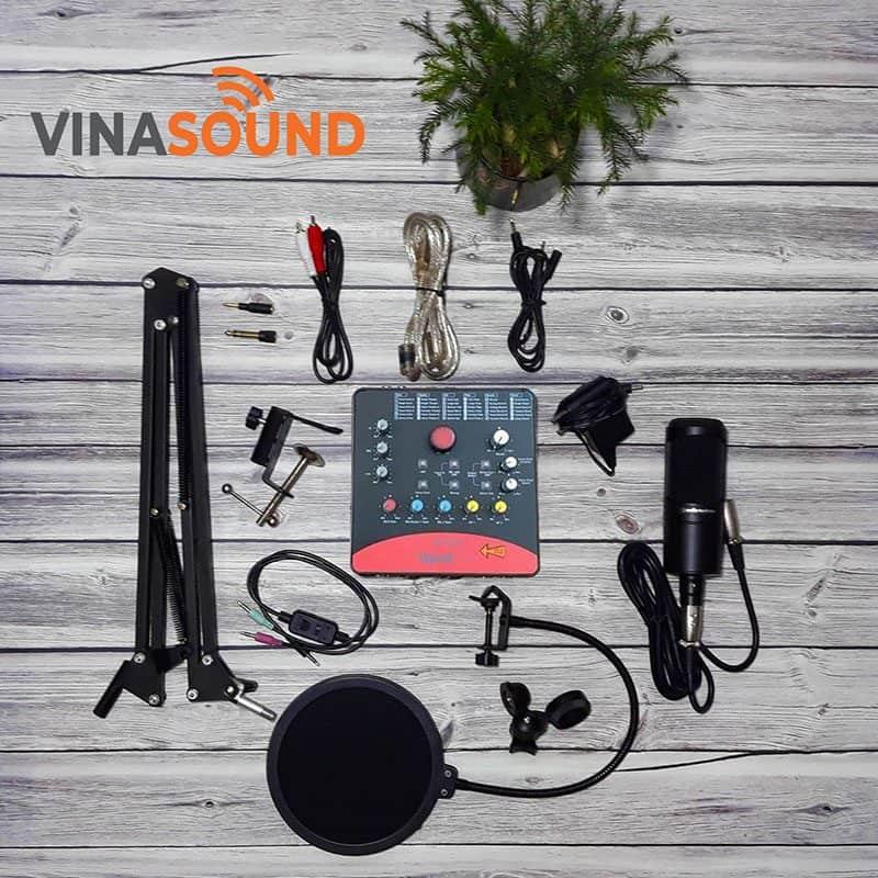 combo micro thu âm at2020 sound card icon upod pro