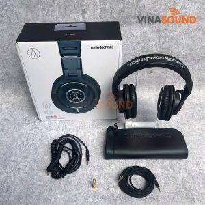 Trọn bộ tai nghe kiểm âm Audio Technica ATH-M40x | Ảnh: Vinasound.vn