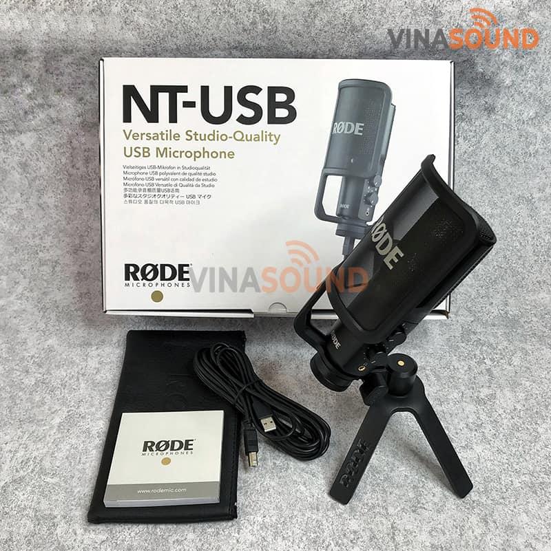 Trọn bộ Rode NT-USB| Ảnh: Vinasound.vn