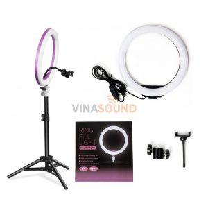 Trọn bộ đèn livestream LED Ring ZD666 26 cm
