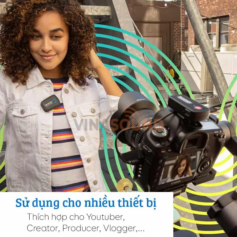 Saramonic Blink 500 B1 tương thích với nhiều thiết bị khác nhau