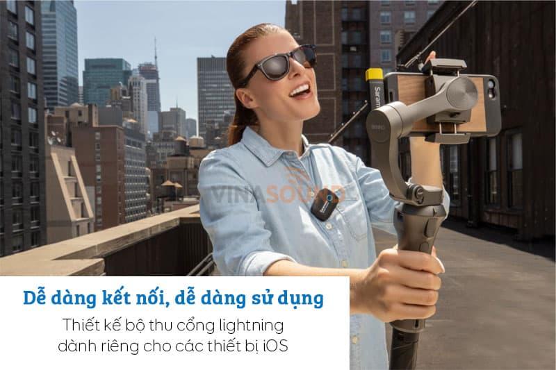 Saramonic Blink 500 B3 với thiết kế dành riêng cho các thiết bị iOS