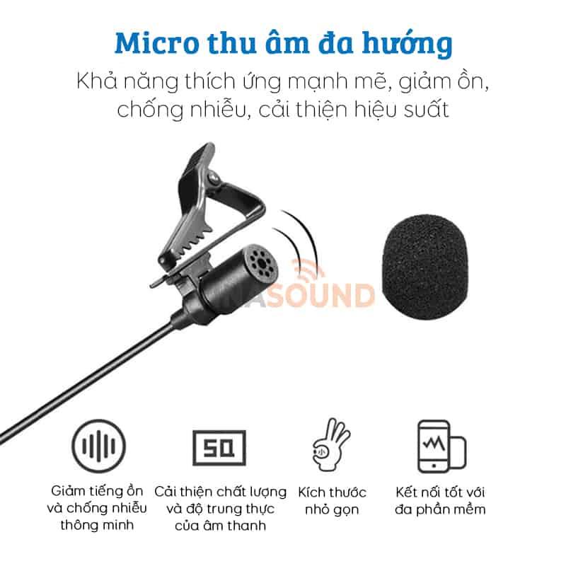 Ưu điểm nổi bật ở micro cài áo BOYA BY-WM4 Pro K2