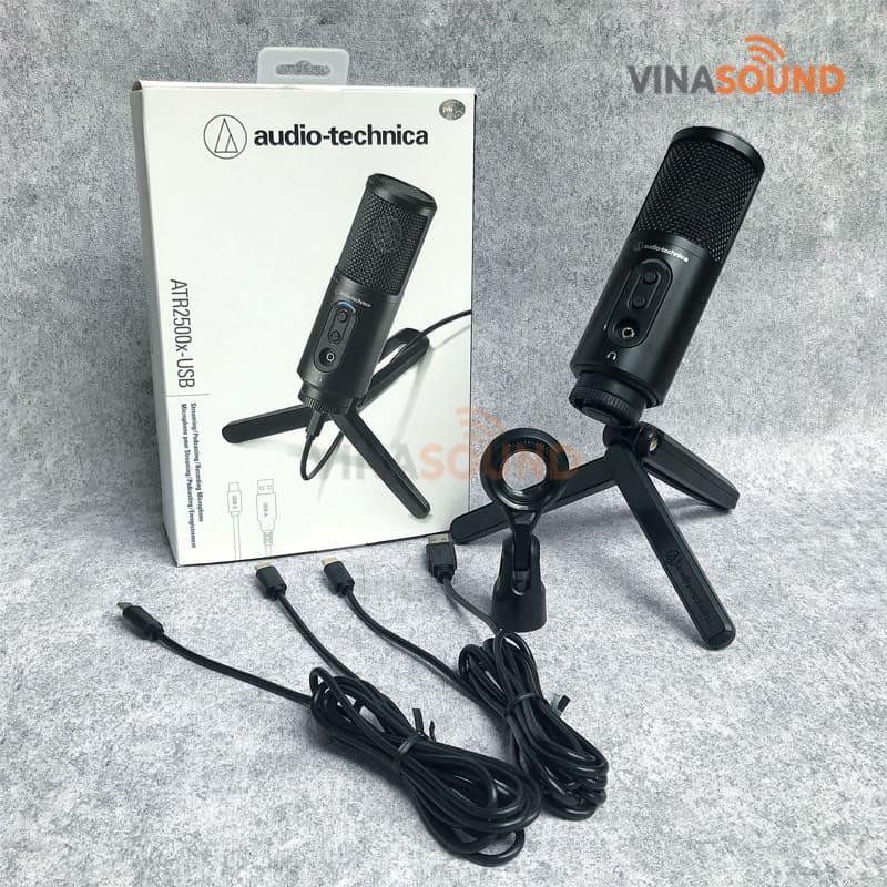 Trọn bộ Micro Cổng USB Audio Technica ATR2500x-USB | Ảnh: Vinasound.vn