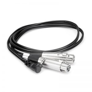 Cáp Hosa Dual XLR3F to Right-Angle 3.5mm TRS