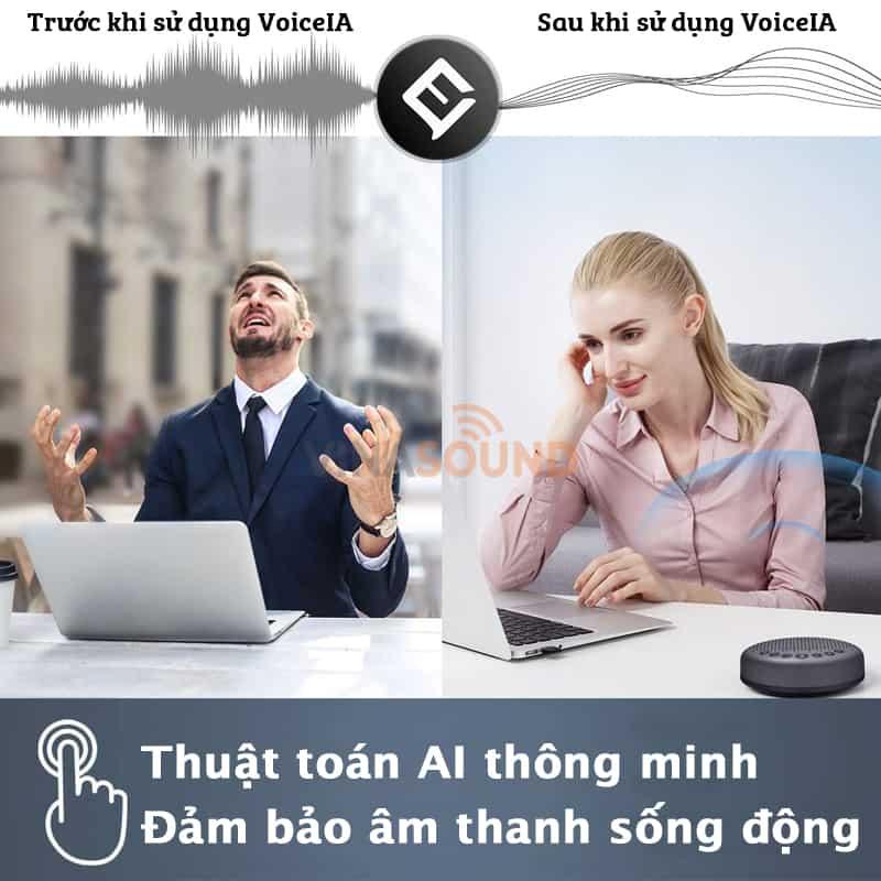 Tính năng lọc Voice IA của eMeet Luna
