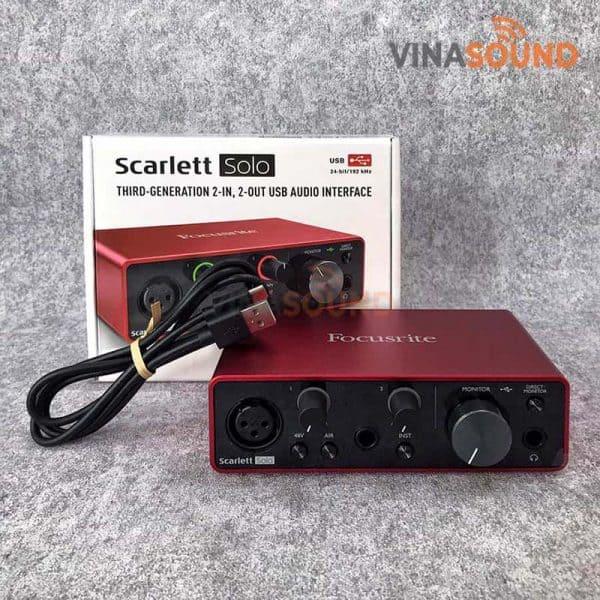 Trọn bộ Focusrite Scarlett Solo 3rd Gen | Ảnh: Vinasound.vn