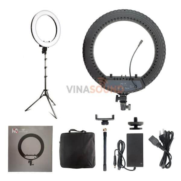 Trọn bộ đèn livestream HQ-18 | Ảnh: Vinasound.vn