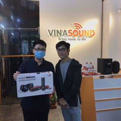 Khách hàng mua combo Focusrite Scarlett Solo Pack Gen3 tại Vinasound | Vinasound.vn