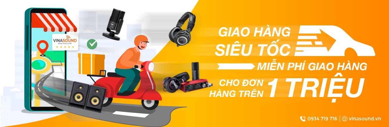 Banner giao hàng siêu tốc | Viansound.vn